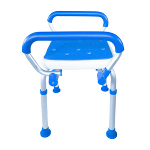 Side View of Padded Bath Safety Seat With Swing Away Arms