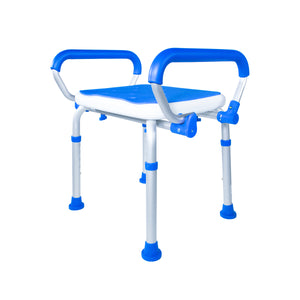 Padded Bath Safety Seat With Swing Away Arms With Legs Collapsed