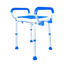 Padded Bath Safety Seat With Swing Away Arms With Legs Extended