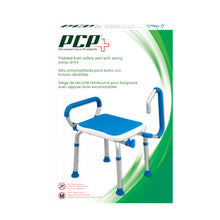 Padded Bath Safety Seat With Swing Away Arms Packaging