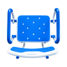 Top View of Padded Bath Safety Seat With Back and Swing Away Arms
