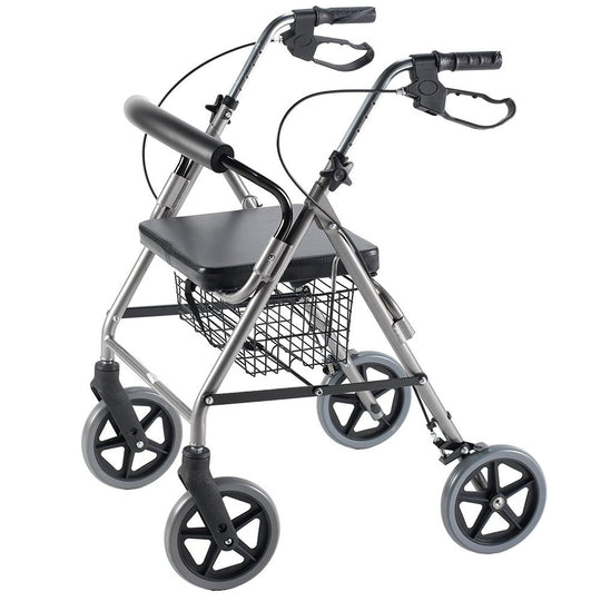 5313 Rollator with Curved Backrest