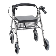Rear View of Rollator with Curved Backrest