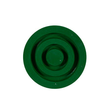 Bottom of Green Replacement Cane Tip for Soft Silicone Handle Offset Adjustable Canes