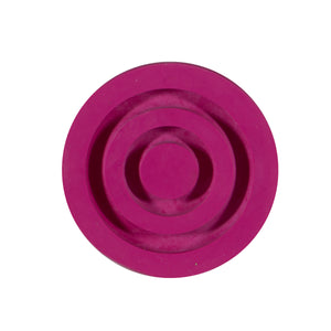 Bottom of Pink Replacement Cane Tip for Soft Silicone Handle Offset Adjustable Canes