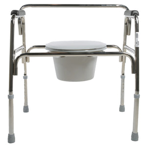 Front View of Closed Heavy Duty Extra-Wide Commode