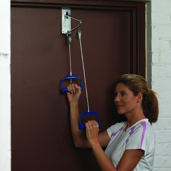 Woman Using Arm and Upper Body Exerciser