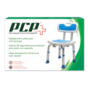 Padded Bath Safety Seat with Backrest Packaging