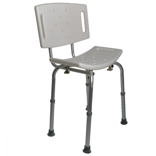 Bath Safety Seat with Backrest and Extended Legs