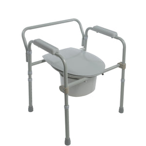 Closed Folding Steel Commode