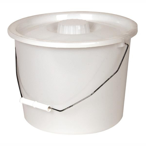 White Replacement Full Pail with Lid and Handle