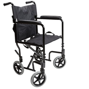 Lightweight Transport Chair with No Footrests