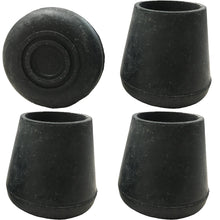 "7/8"" Black Replacement Walker/Commode Tips"