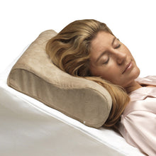 Woman's Head Laying on Memory Foam Cervical Pillow