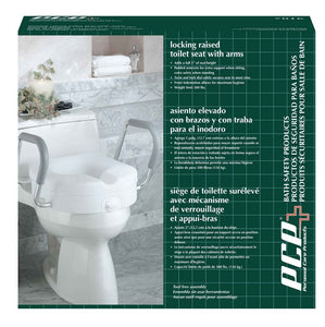 Molded Raised Toilet Seat with Removable Arms Packaging