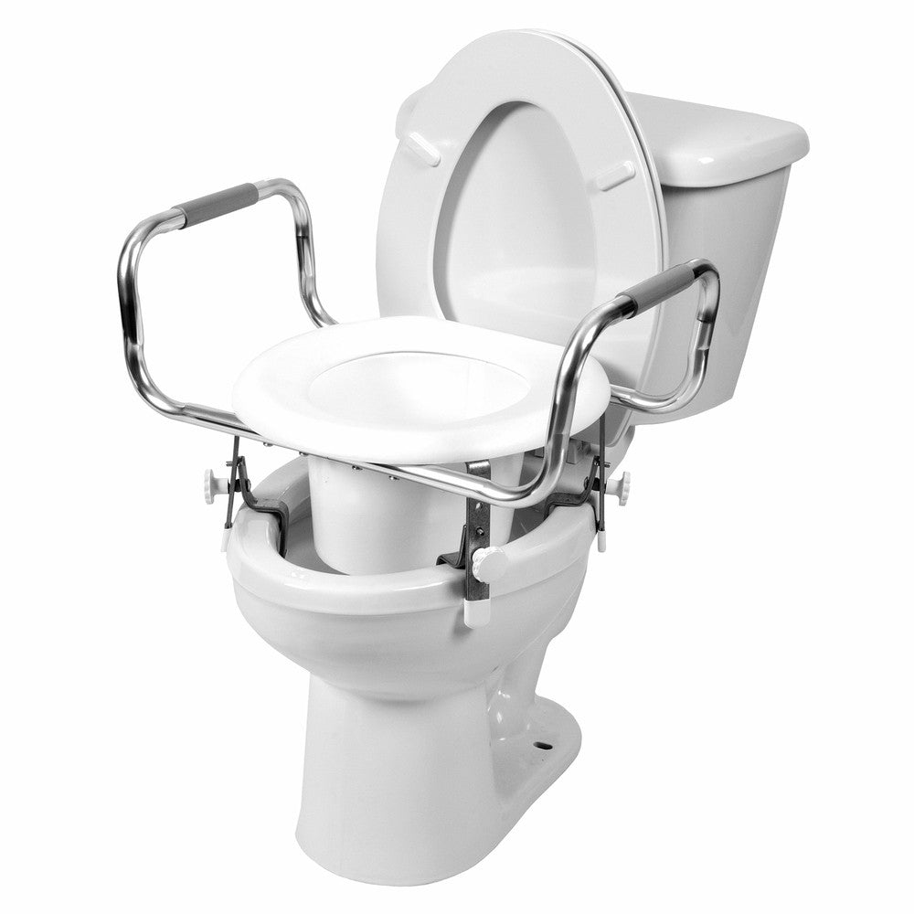 7751 Adjustable Raised Toilet Seat With Arms Pcpmedical