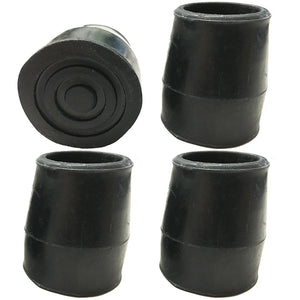 "1"" Black Replacement Walker/Commode Tips"