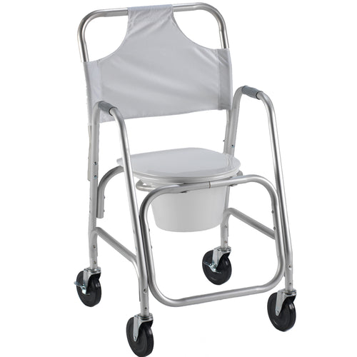 Adjustable Shower Transport Chair with Closed Commode