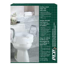 Molded Toilet Seat Riser with Arm Rests Packaging