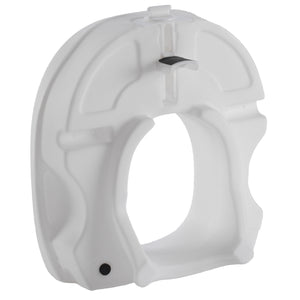 Bottom of Molded Raised Toilet Seat with Tightening Lock