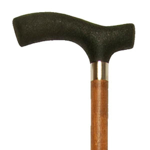 Close-up On Light Brown Large Grip Wood Fritz Handle Cane Handle