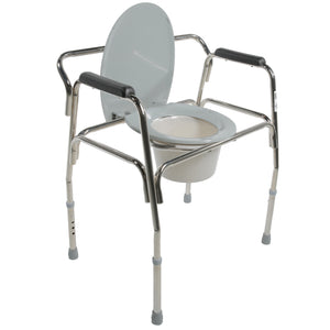 Open Heavy Duty Extra-Wide Commode with Seat Down