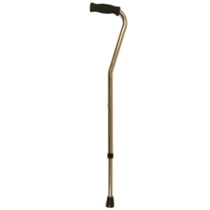 Bronze Adjustable Offset Handle Cane with Soft Grip