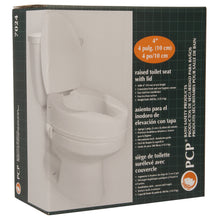 "4"" Molded Raised Toilet Seat with Lid Packaging"