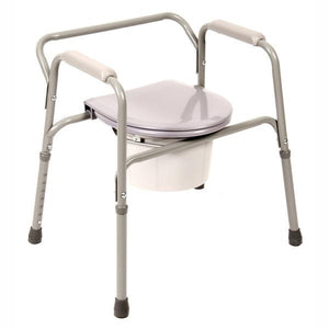 PCP 5526, Coated Bed-Side Adjustable Commode With Removable Backrest