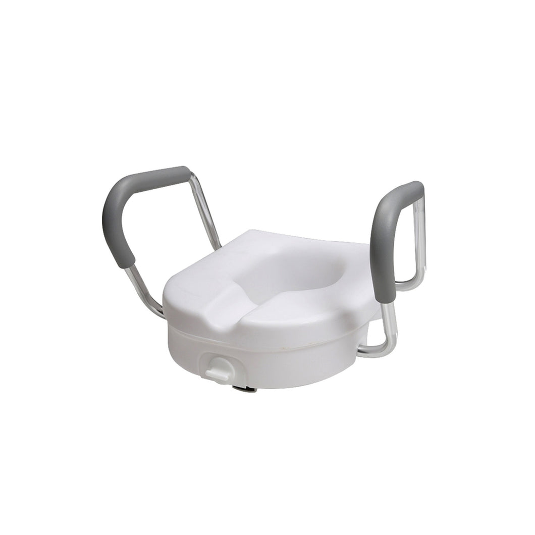 Molded Toilet Seat Riser with Arm Rests