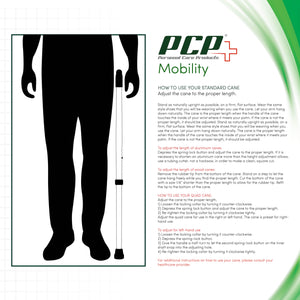 PCP 213528, Folding Adjustable Cane with Fritz Handle