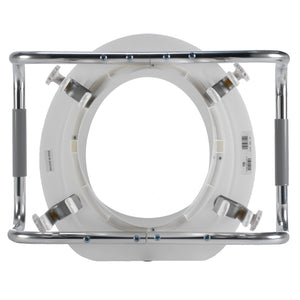 Bottom of Adjustable Raised Toilet Seat with Arms