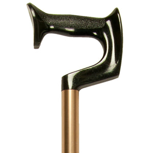 Close-up On Medium Grip Bronze Adjustable Orthopaedic Handle Cane Handle