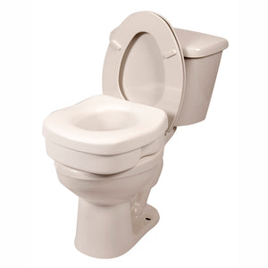 Lightweight Molded Toilet Seat Riser On Tan Toilet
