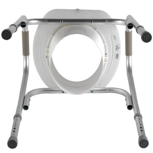 Bottom of Raised Toilet Seat with Safety Frame