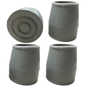 "1"" Grey Replacement Walker/Commode Tips"