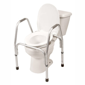 3-in-1 Aluminum Commode on Toilet