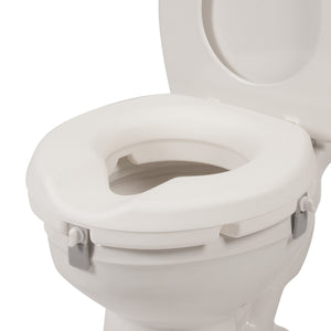 "3"" Universal Raised Toilet Seat on Grey Toilet"