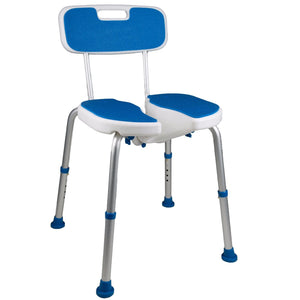PCP 7105, Adjustable Padded Bath Safety Seat With Hygienic Cutout With Backrest