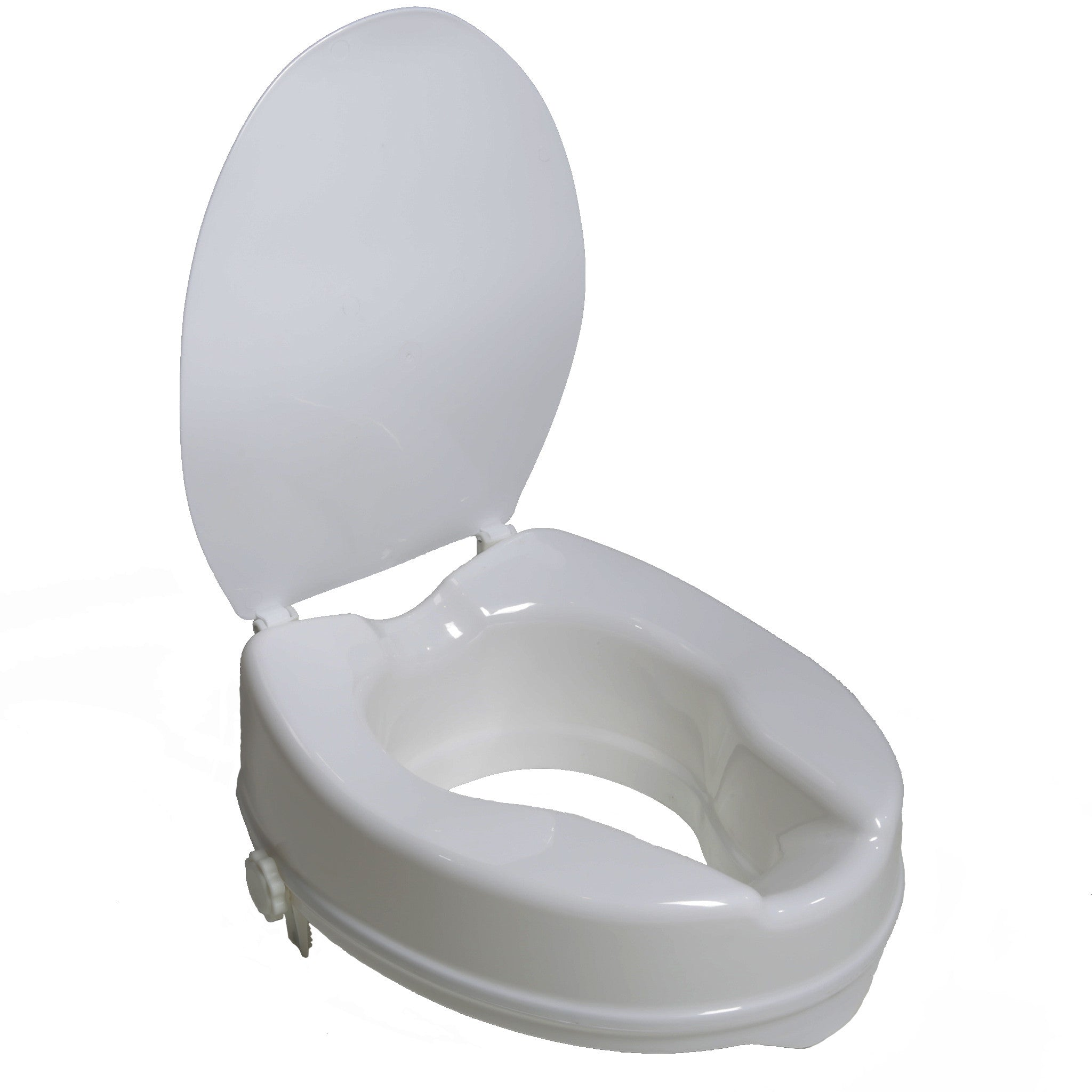 7024 4 Quot Molded Raised Toilet Seat With Lid Pcpmedical