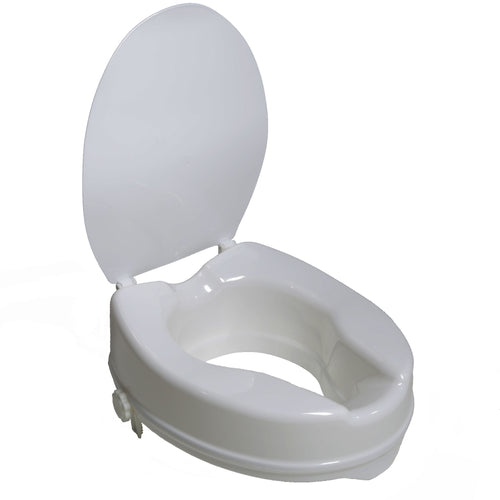 PCP 7024, Molded Toilet Seat Riser with Lid