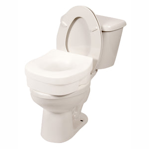 Contoured Molded Raised Toilet Seat on Toilet