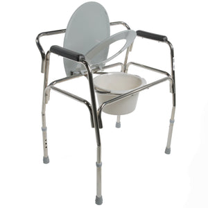 Open Heavy Duty Extra-Wide Commode with Seat Semi-Up