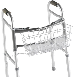 Wire Basket for Dual Release Walker Attached to a Walker