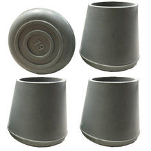"7/8"" Grey Replacement Walker/Commode Tips"