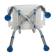 Bottom of Padded Bath Safety Seat with Backrest