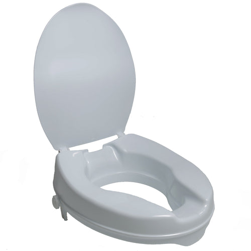 PCP 7022, Molded Toilet Seat Riser with Lid