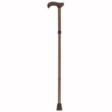 Brown Folding Adjustable Derby Handle Cane