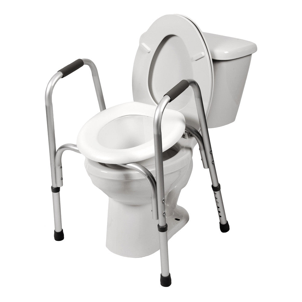 7007 Raised Toilet Seat With Safety Frame Pcpmedical