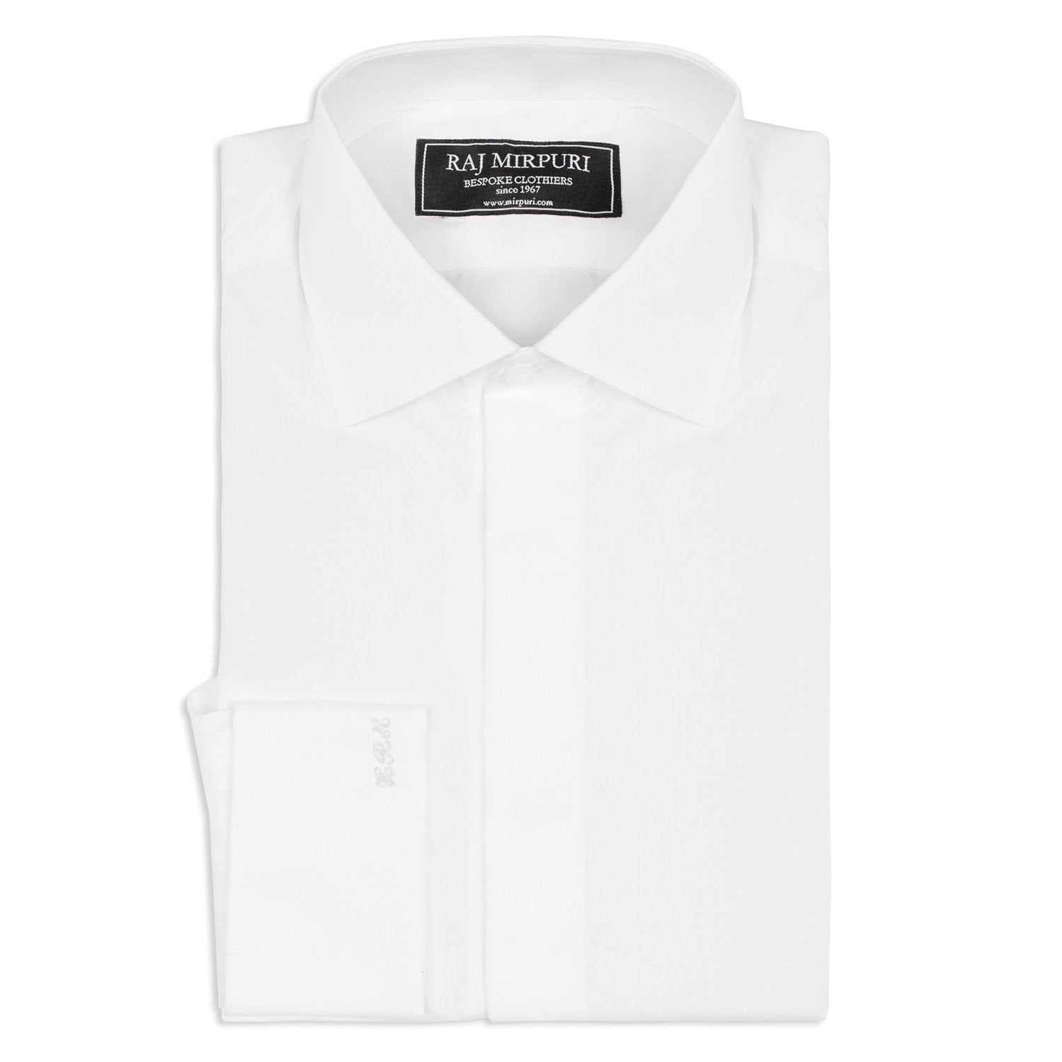 Bespoke - White Evening Shirt With Fly Front